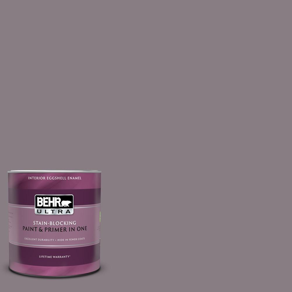 Behr Ultra 1 Qt N570 4 Classy Plum Eggshell Enamel Interior Paint And Primer In One 275304 The Home Depot