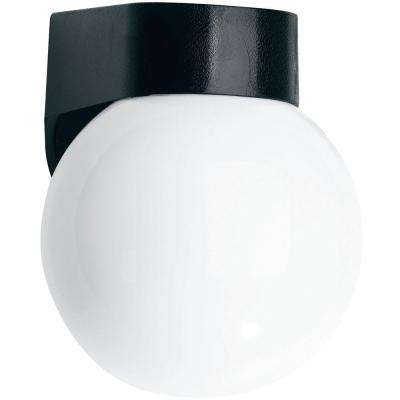 Black Coastal Outdoor Globe Light