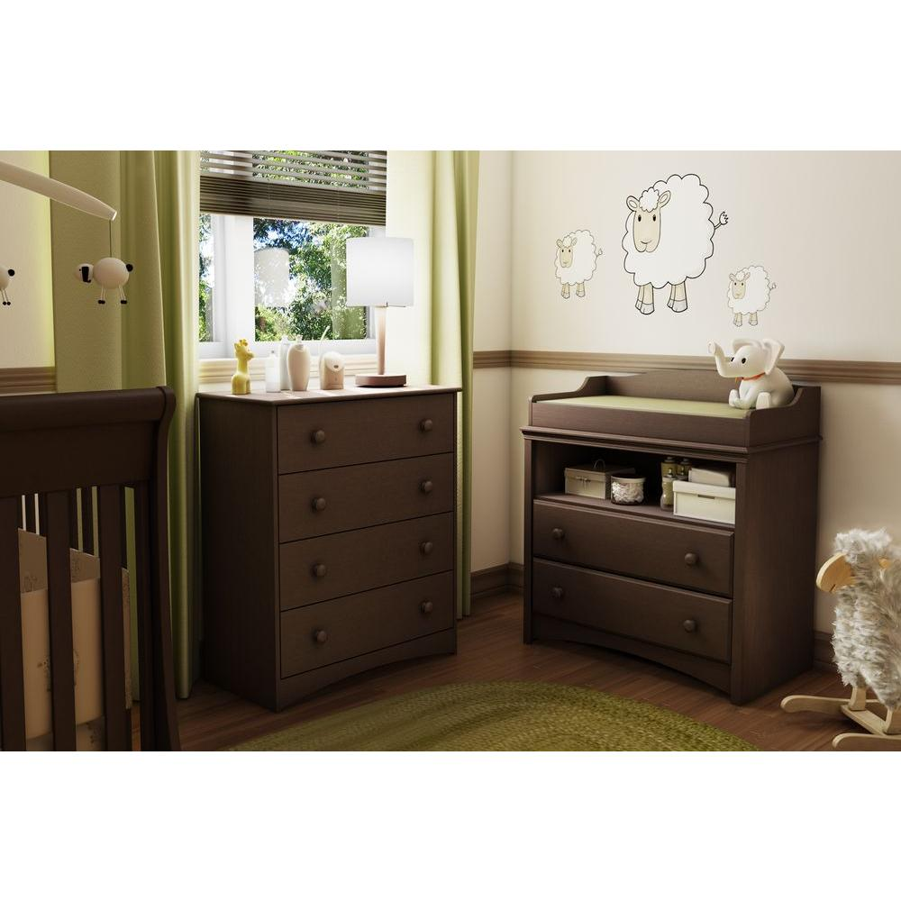 South S Angel 2 Drawer Espresso Changing Table