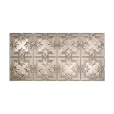 Regalia 2 ft. x 4 ft. Glue-up Ceiling Tile in Brushed Nickel