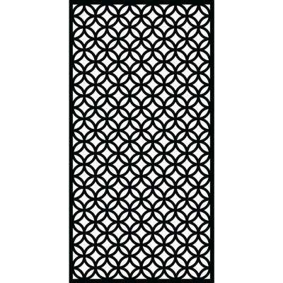 0.3 in. x 71 in. x 2.95 ft. Halo Recycled Plastic Charcoal Decorative Screen (4-Piece per Bundle)
