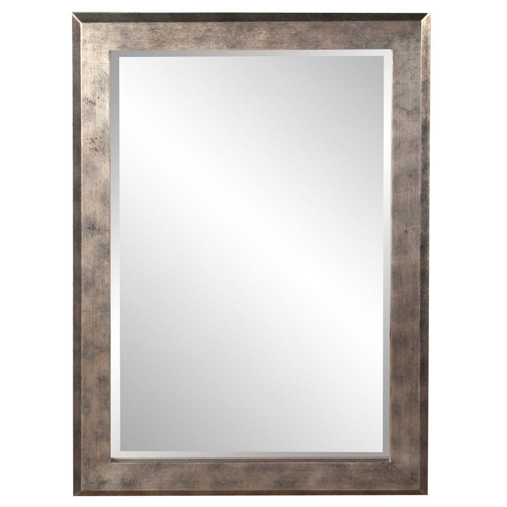 null 42 in. x 30 in. Wood Framed Mirror