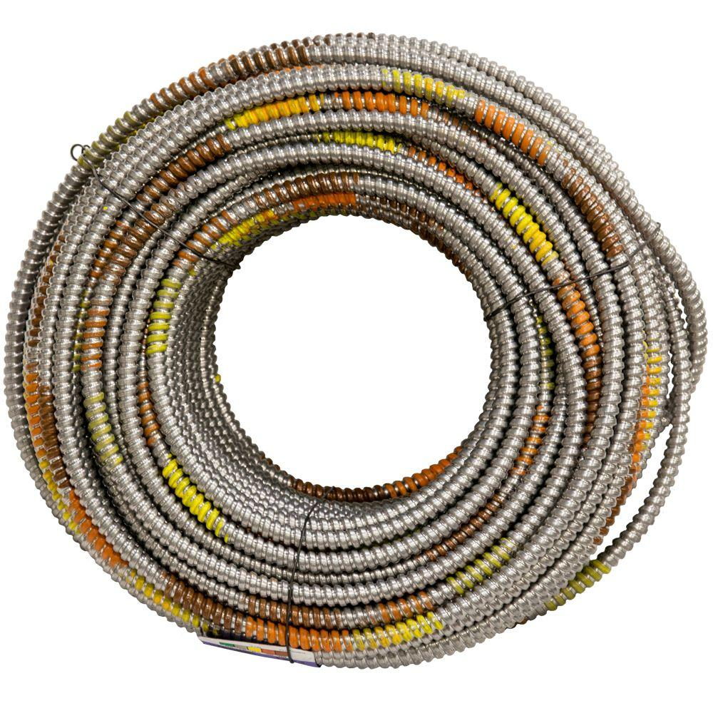 Afc Cable Systems 12 4 Gauge X 250 Ft Mc Lite 2106s42 01 Electrical Wire 4gauge Power For Usa View White Copper