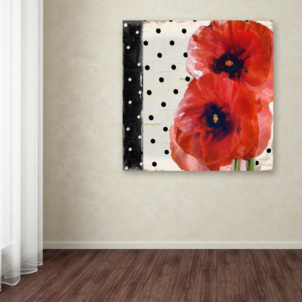 Trademark Fine Art 18 in. x 18 in. ''Scarlet Poppies I''