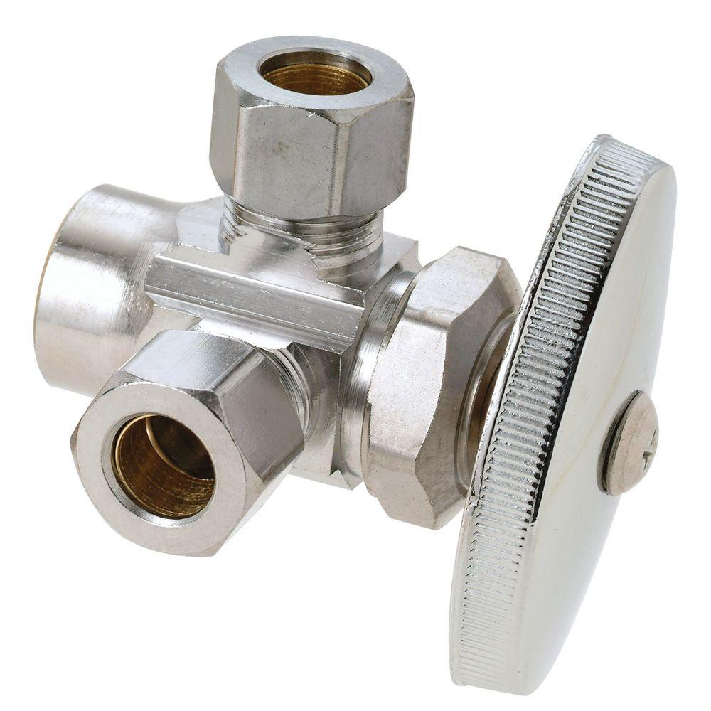 Satin Nickel Standard Plumbing Supply Sweat Jaclo 317-X-72-SN 1//2 Copper x 3//8 OD Compression Standard Cross Lever Fit Extension Valve Kit