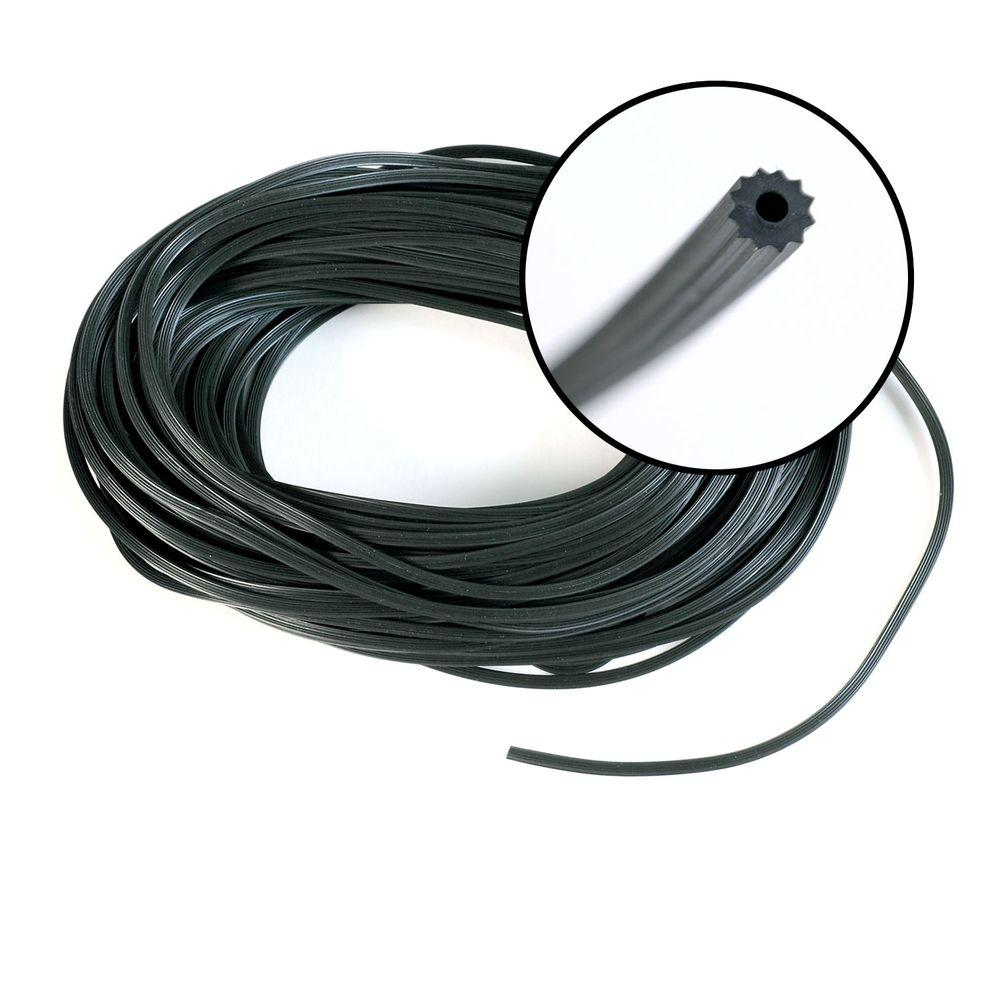 Phifer 0.175 in. x 100 ft. Black Spline