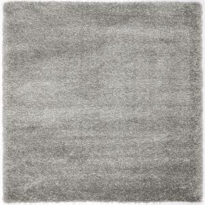 california shag silver 8 ft 6 in x 8 ft 6 in - Square Area Rugs