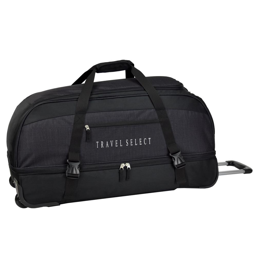86f561ea78 Traveler s Choice 30 in. Drop Bottom Rolling Grey Duffel Bag-TS03073G - The  Home Depot