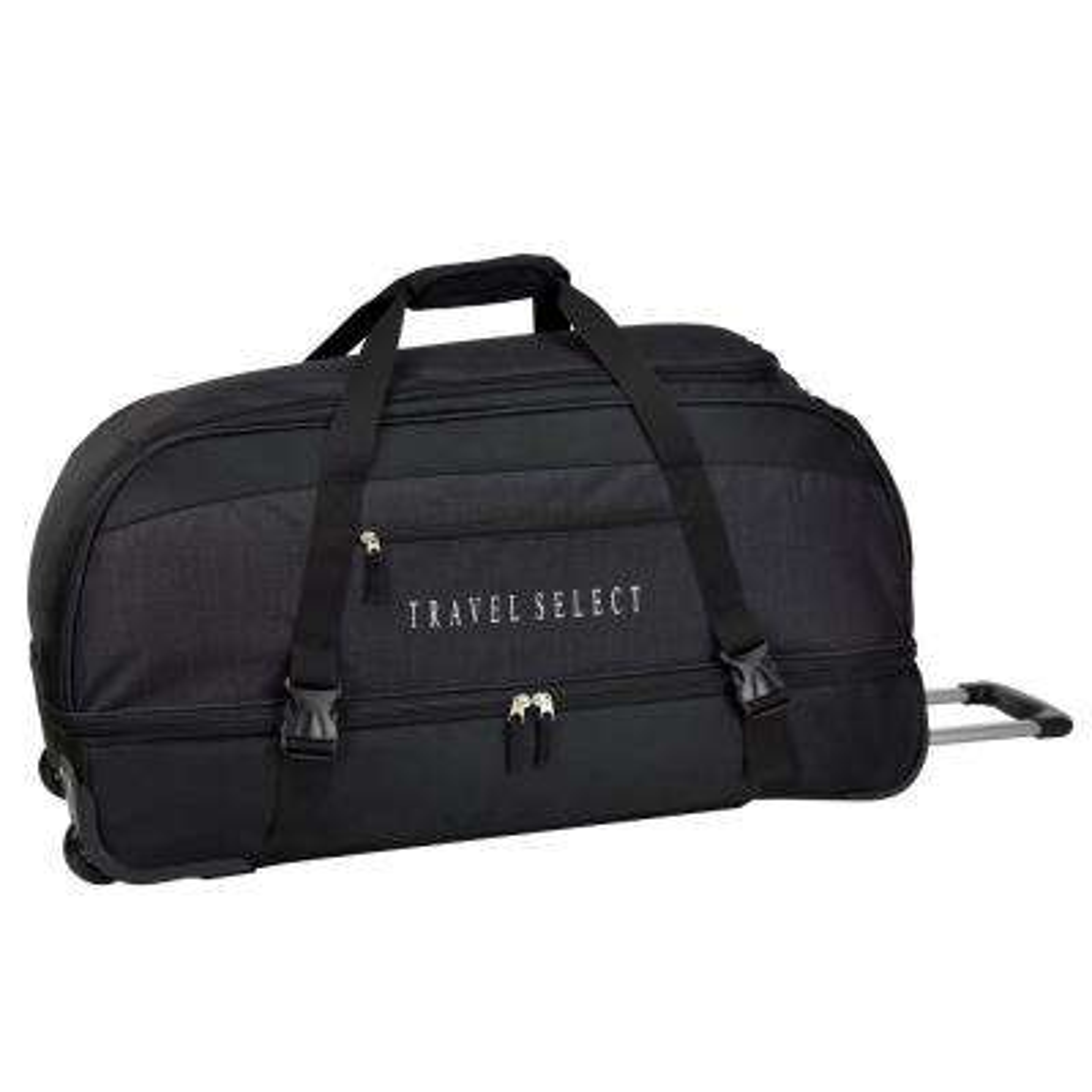 30 in. Drop Bottom Rolling Grey Duffel Bag