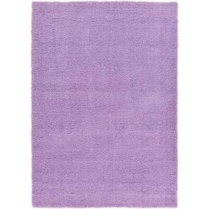 solid shag lilac 7 ft x 10 ft area rug