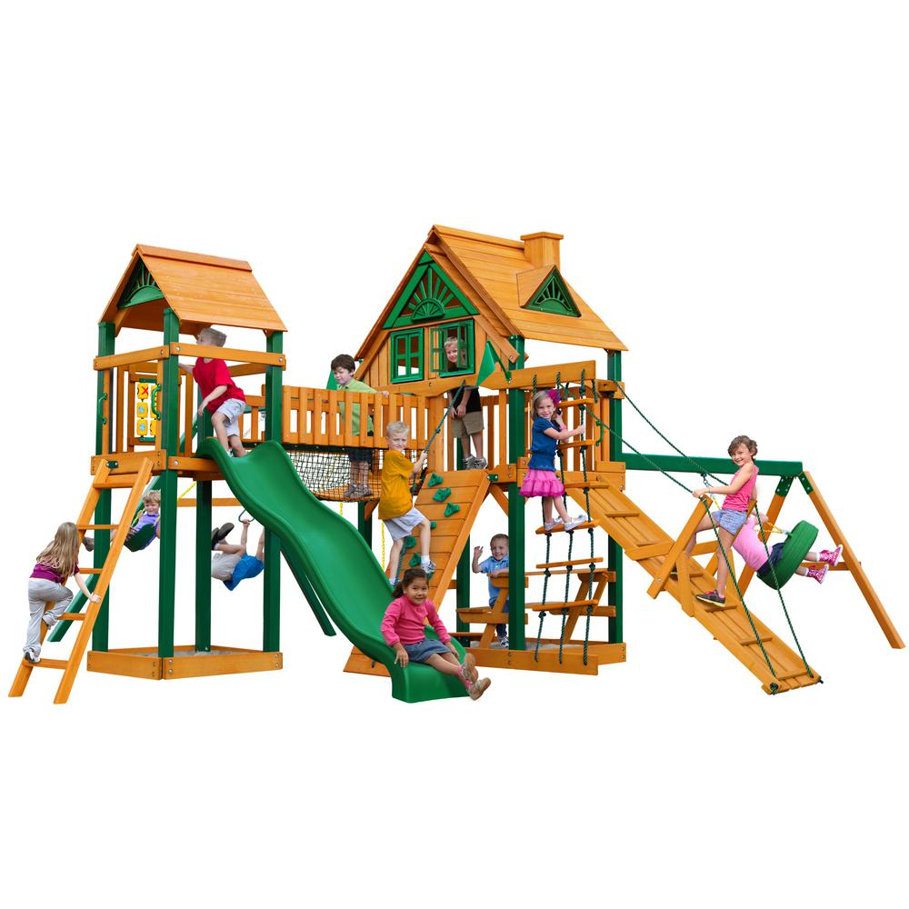 Gorilla Playsets Pioneer Peak Treehouse Swing Set With