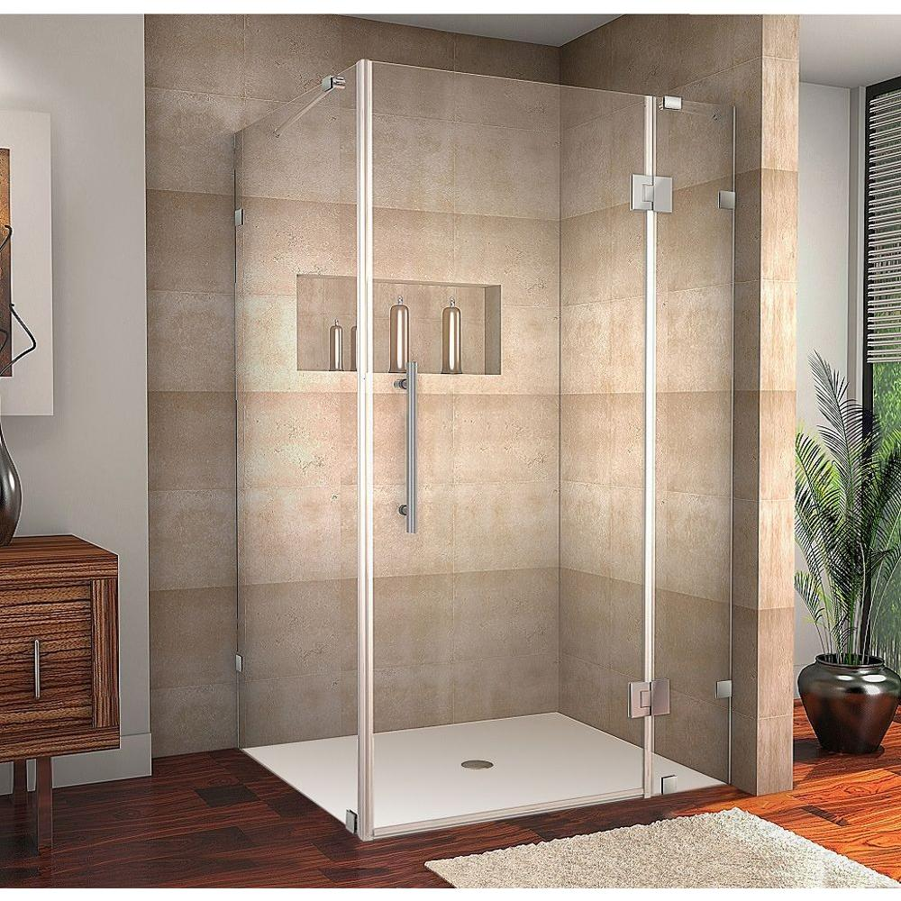 Aston Avalux 40 in. x 30 in. x 72 in. Completely Frameless Shower ...