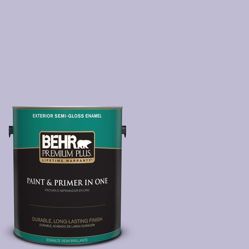 1-gal. #640C-3 Twilight Pearl Semi-Gloss Enamel Exterior Paint
