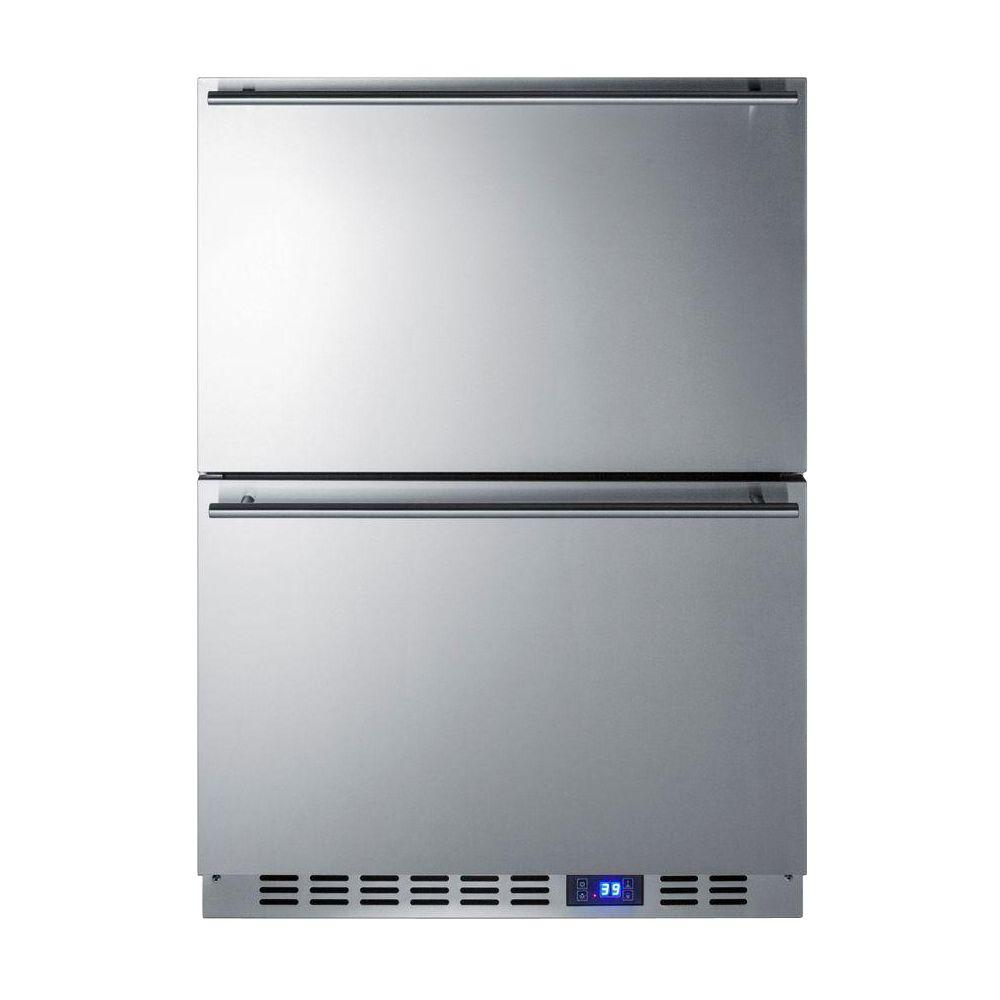 24 in. W 3.4 cu. ft. Freezerless Refrigerator in Stainless Steel