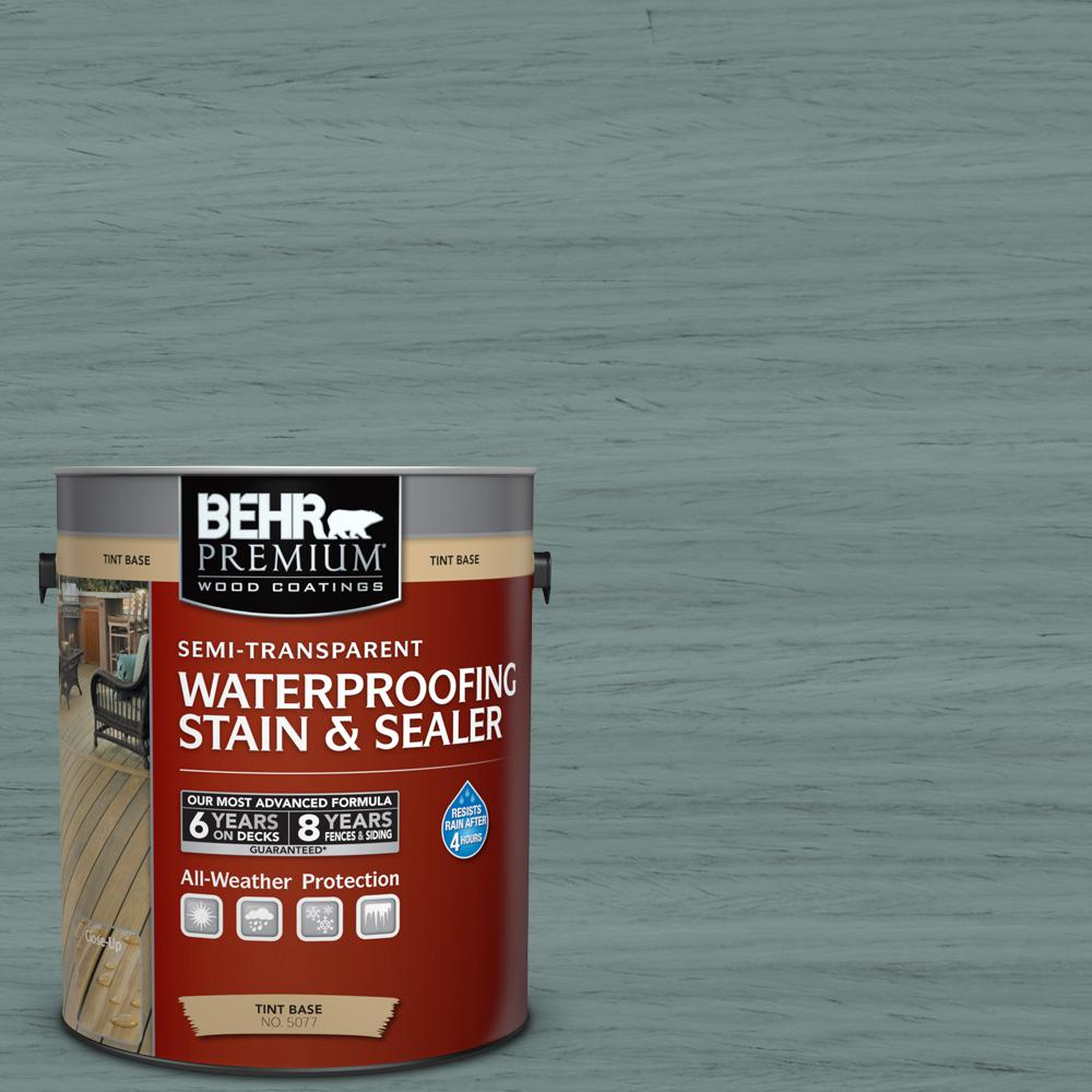 1 gal. #ST-119 Colony Blue Semi-Transparent Waterproofing Exterior Wood Stain