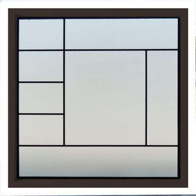 47.5 in. x 47.5 in. Metro Decorative Glass Picture Vinyl Window - Bronze