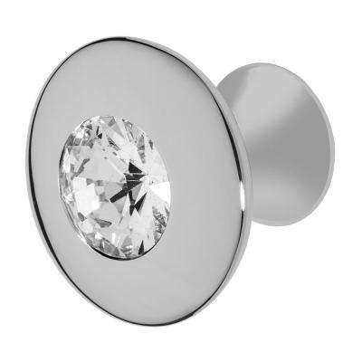 Felicia 1-1/4 in. Chrome with Clear Crystal Cabinet Knob