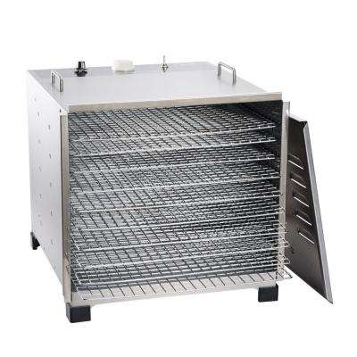 10-Tray Stainless Steel Food Dehydrator with Built-In Timer