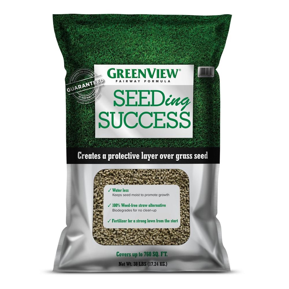 GreenView 38 lbs. Fairway Formula Seeding Success Biodegradable Mulch with Fertilizer