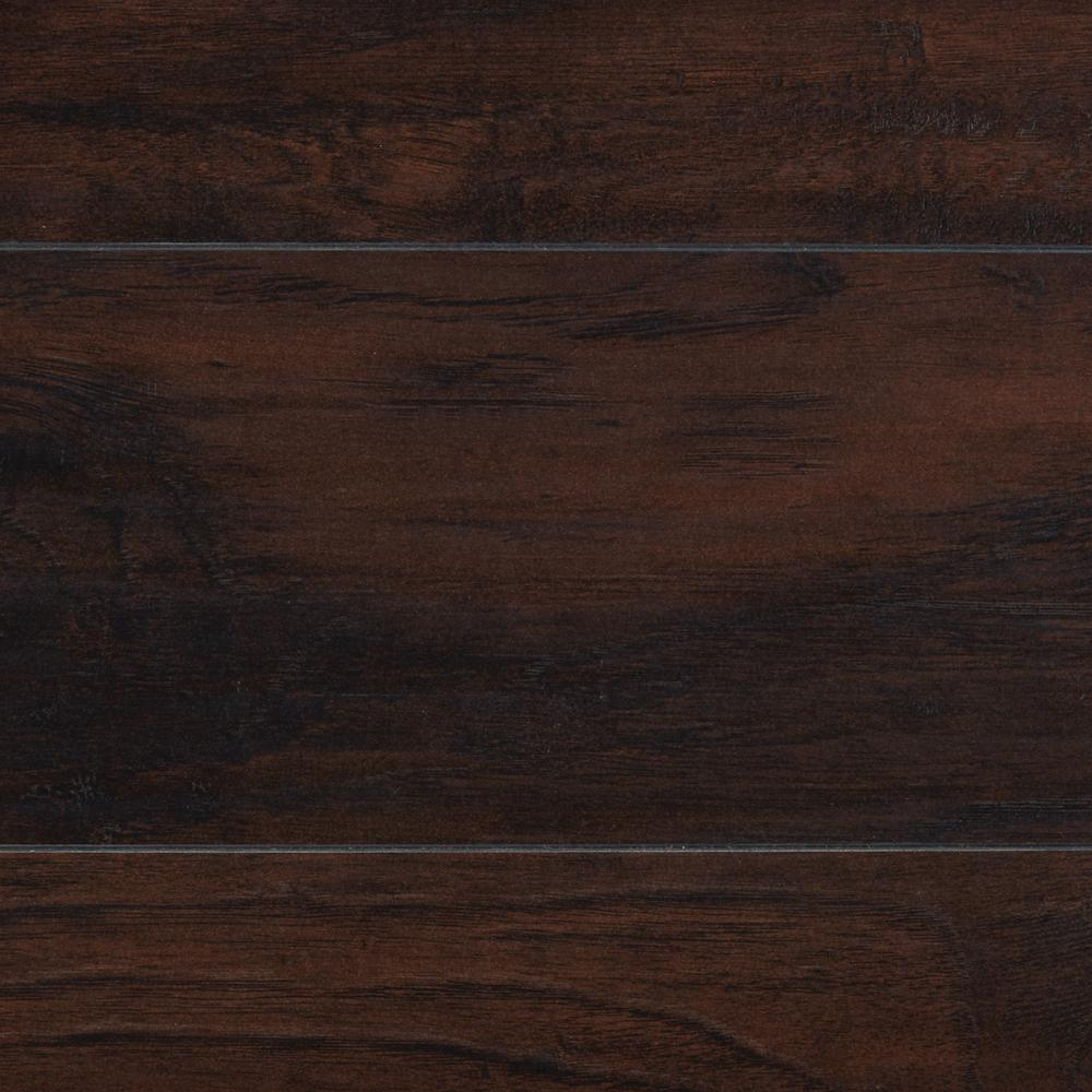 Home Decorators Collection 8mm Stanhope Hickory 5 in. x 7 in. Laminate Flooring - Take Home Sample, Dark