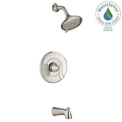 chatfield 3spray tub and shower faucet in brushed nickel