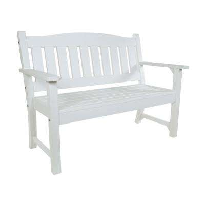 Huntington Recycled Plastic Outdoor Bench - White