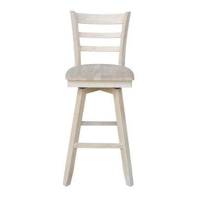 Emily 30 in. H Unfinished Swivel Bar Stool