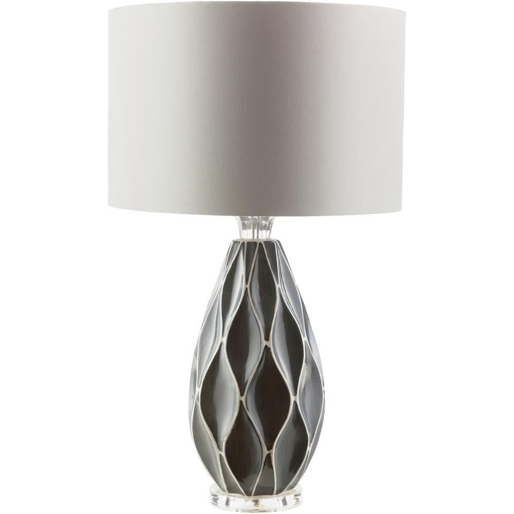 Brigitte 27.5 in. Medium Gray Indoor Table Lamp