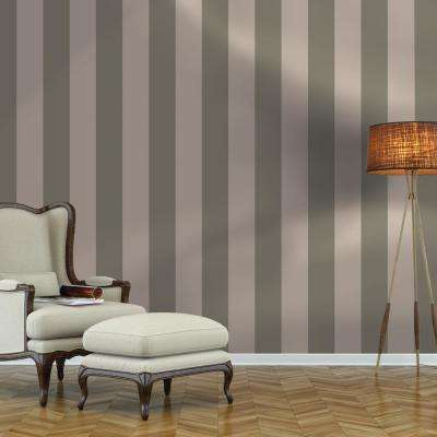Repeel Removable Stripe Grey Wallpaper