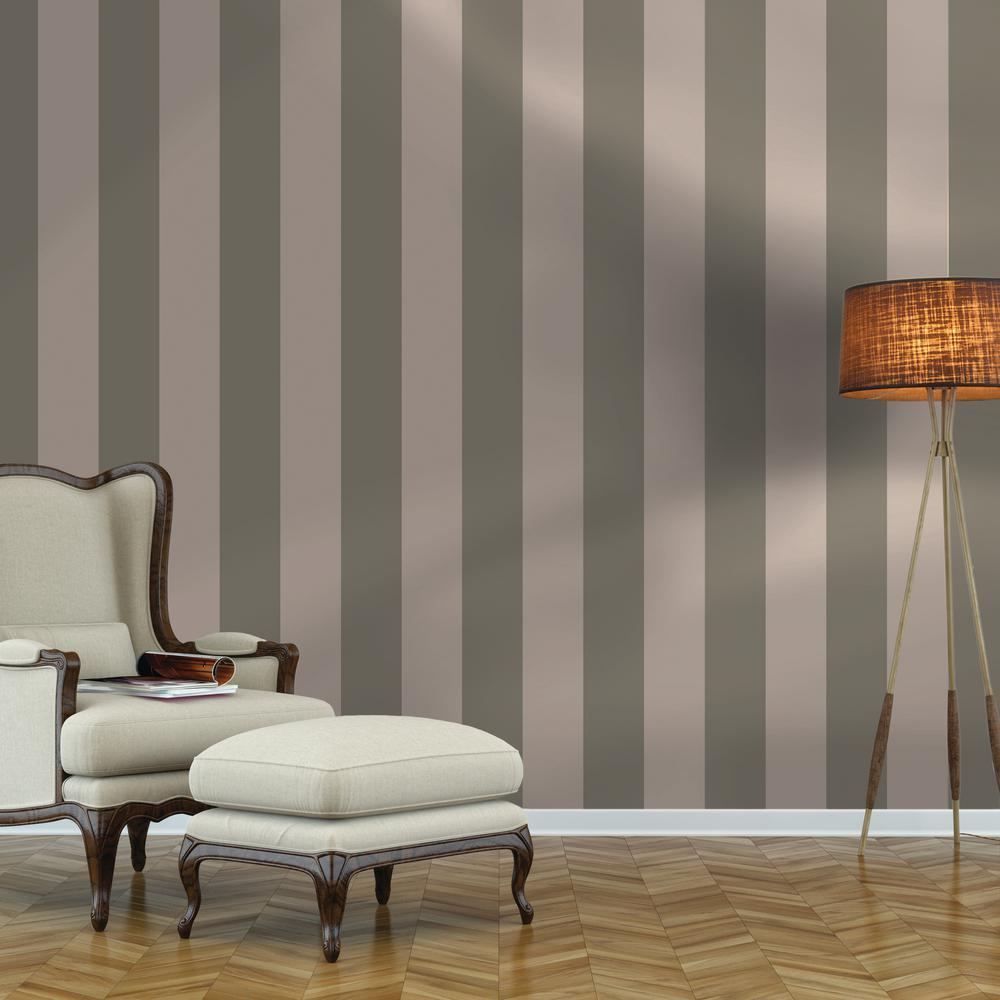 Repeel Removable Stripe Grey Wallpaper