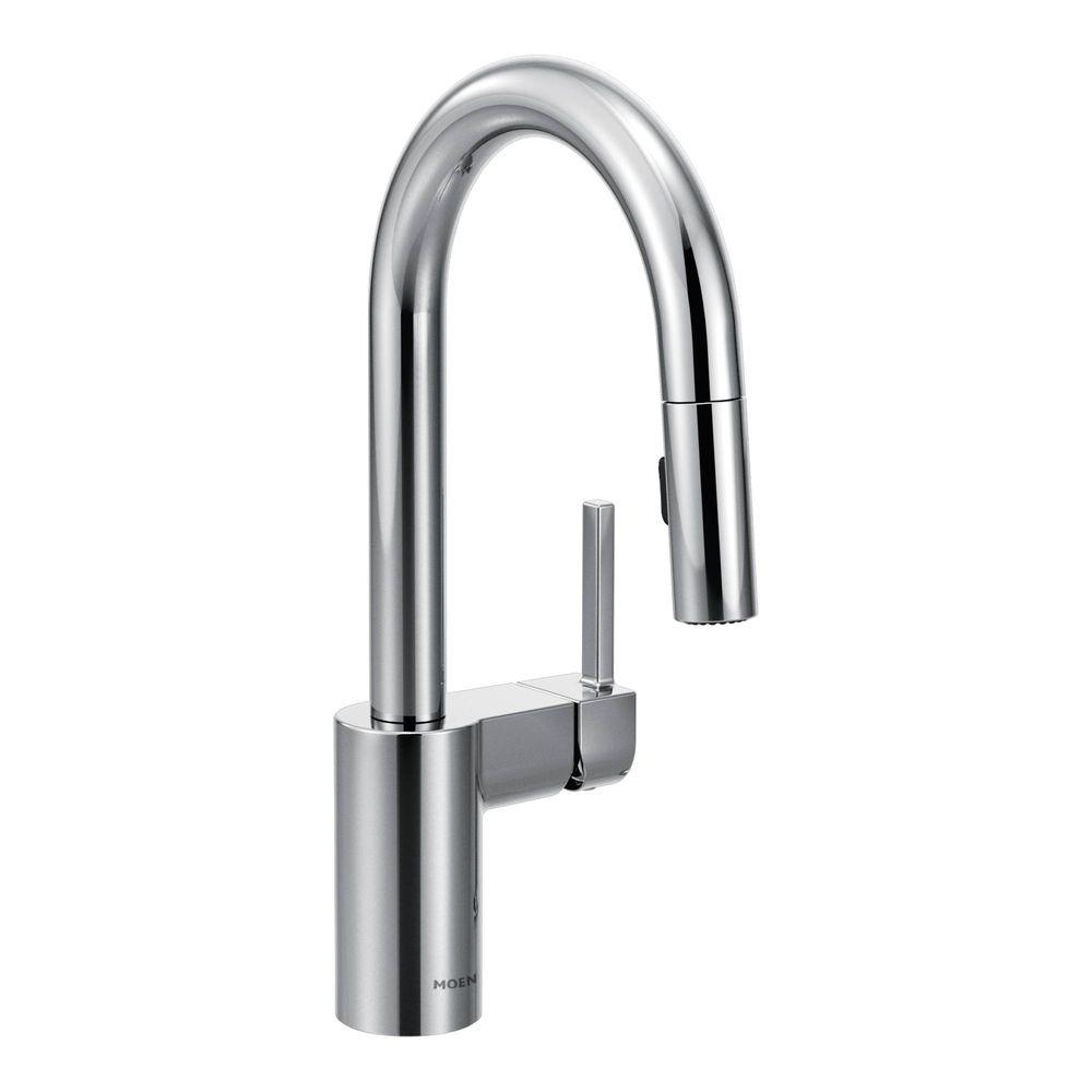 MOEN Integra Single-Handle Pull-Out Sprayer Kitchen Faucet with ...