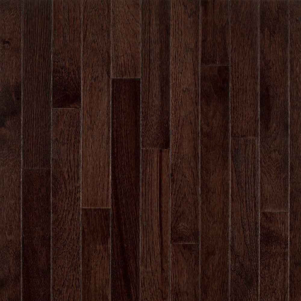 Bruce frontier shadow hickory 3 4 in thick x 3 1 4 in for Unfinished wood flooring
