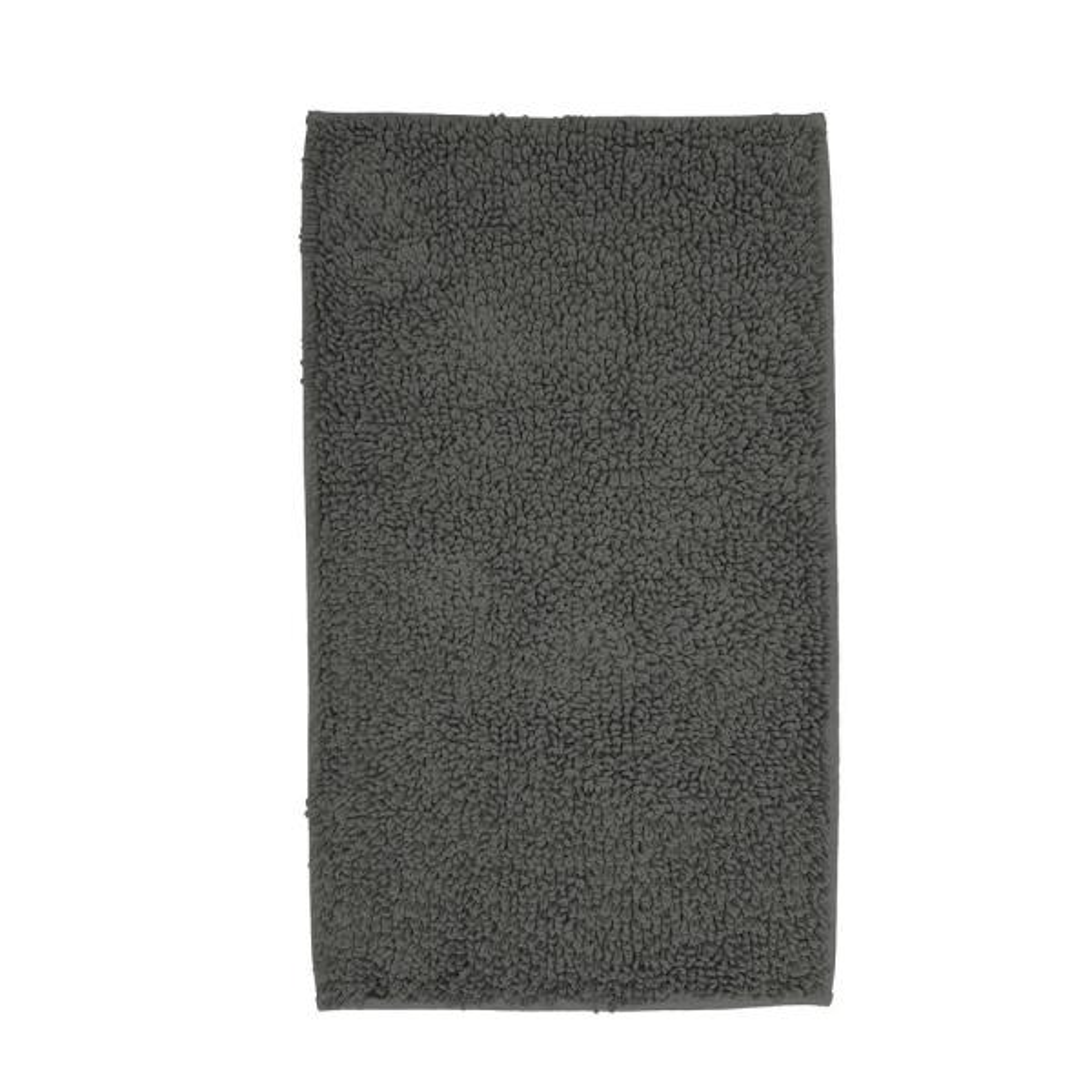 Loop Light Grey Bath Rug Reviews: The Company Store Company Cotton Chunky Loop Metal Gray 24