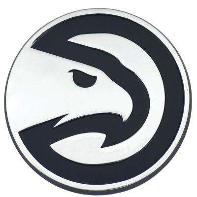 NBA-Atlanta Hawks 2 in. x 3.2 in. Chrome Emblem
