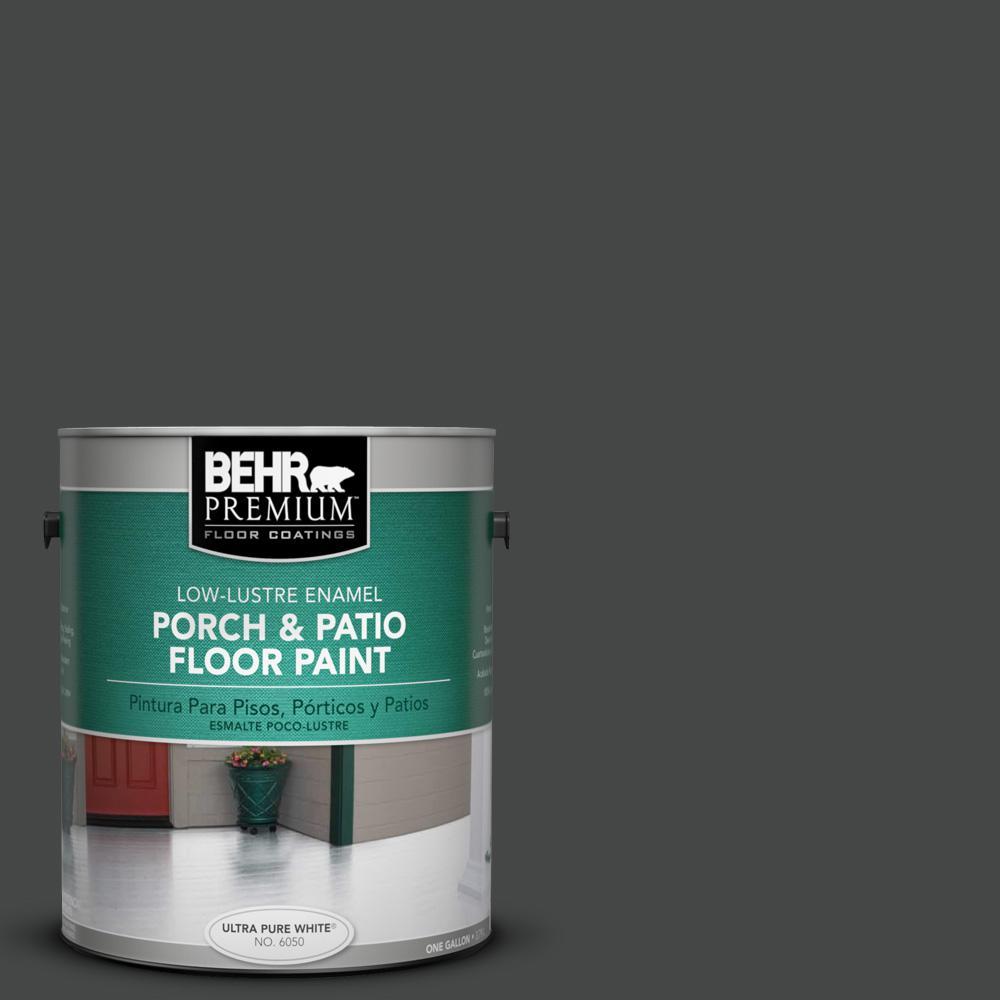 1 gal. #PPU26-23 Black Boudoir Low-Lustre Porch and Patio Floor Paint