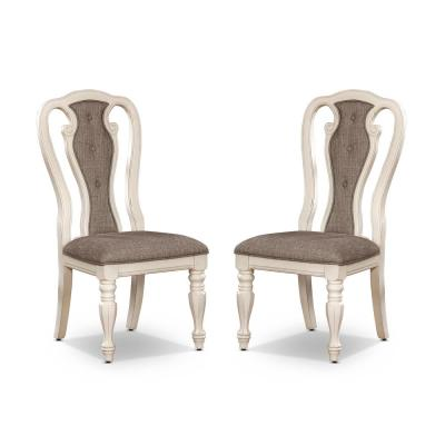 Forest Glen White Wash and Ash Brown Side Chairs (Set of 2)