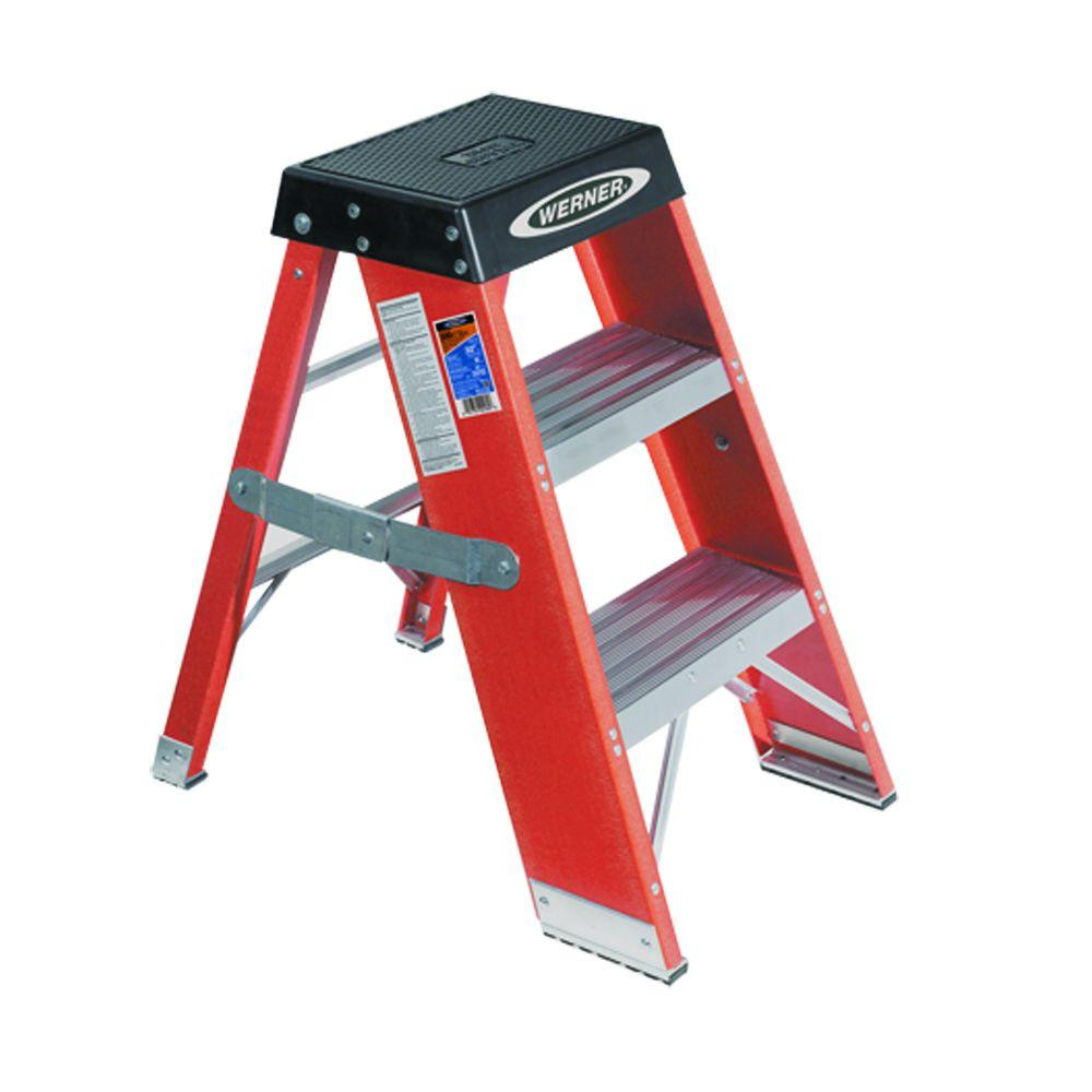 3 ft. Fiberglass Step Ladder with 375 lb. Load Capacity Type