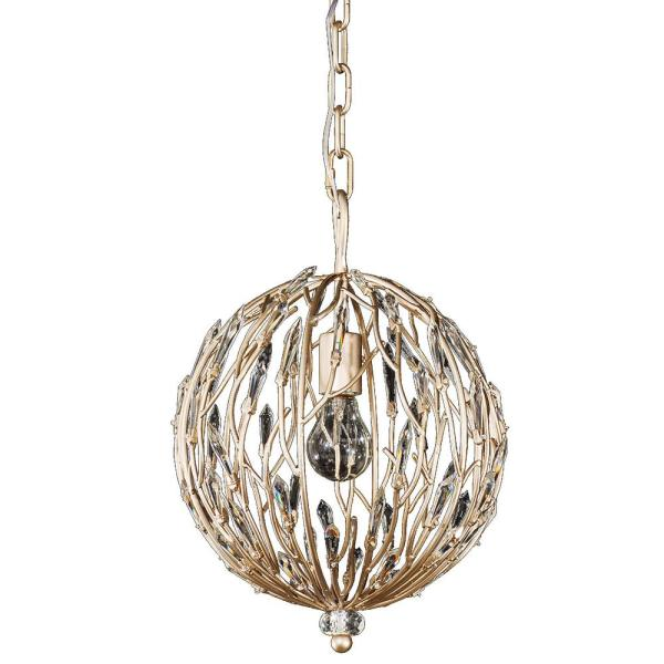 Bask 1-Light Gold Dust Orb Pendant
