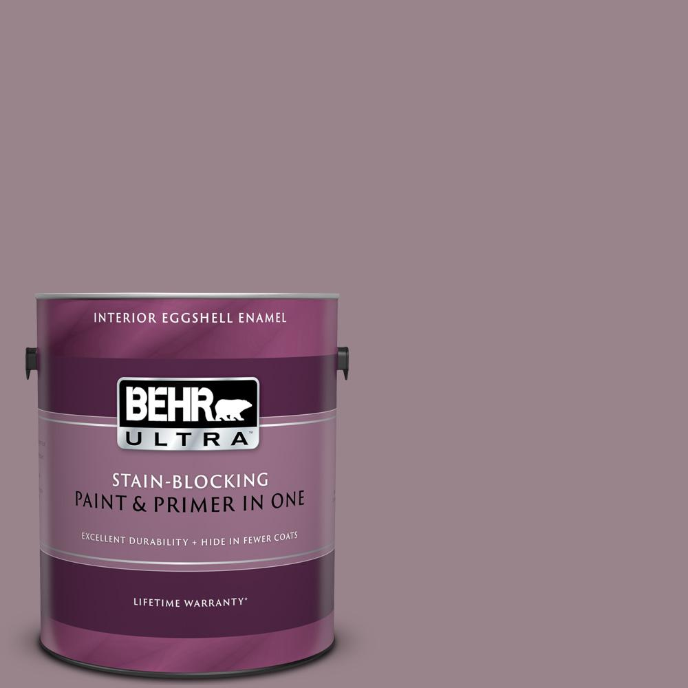 Behr Ultra 1 Gal Home Decorators Collection Hdc Cl 05 Orchard Plum Eggshell Enamel Interior Paint Primer 275401 The Home Depot