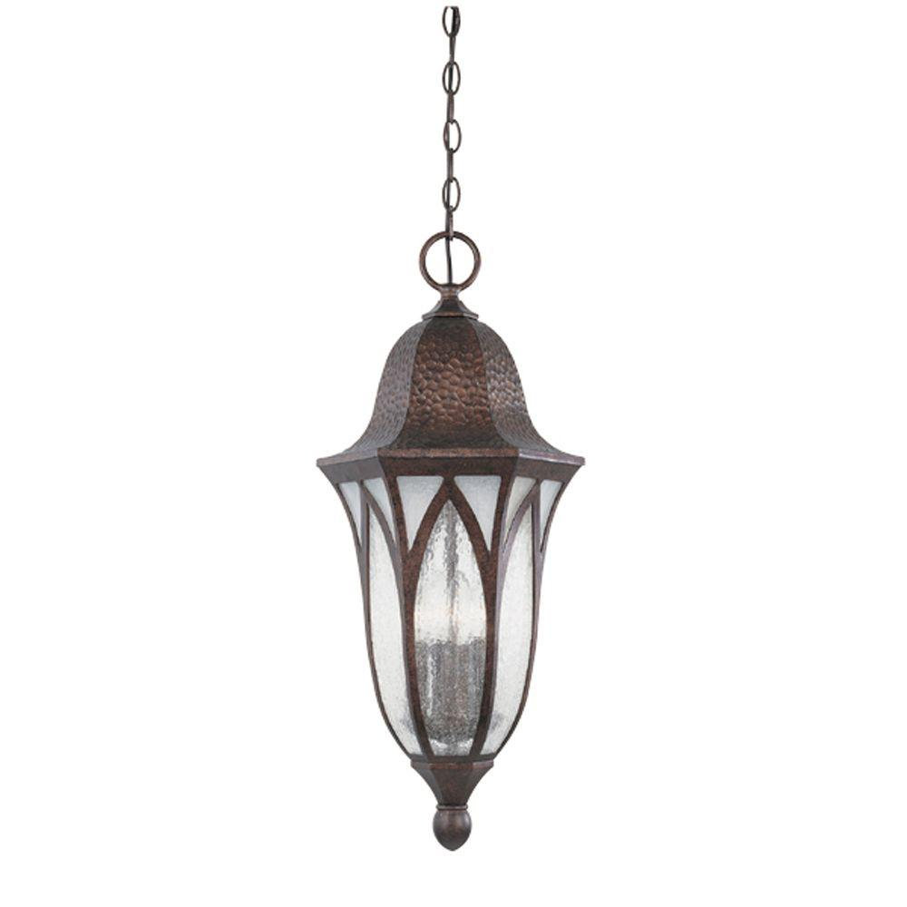 Designers Fountain Charleston 4-Light Burnished Antique Copper Outdoor Hanging Lamp