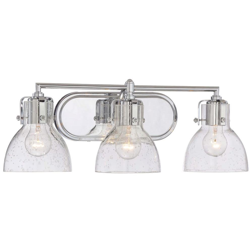 Minka Lavery Light Chrome Bath Vanity Light The Home Depot - Bathroom vanity lights in chrome