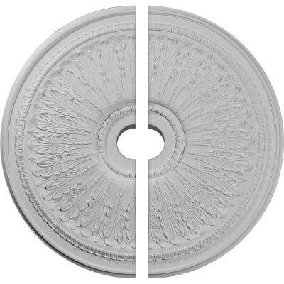29-1/8 in. O.D. x 3-5/8 in. I.D. x 1 in. P Oakleaf Ceiling Medallion (2-Piece)