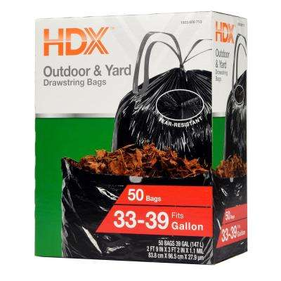 33 Gal. - 39 Gal. Black DS Flex Trash Bags 51-Ct