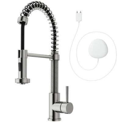 Edison Single-Handle Pull-Down Sprayer Kitchen Faucet with FloodSense Technology in Stainless Steel