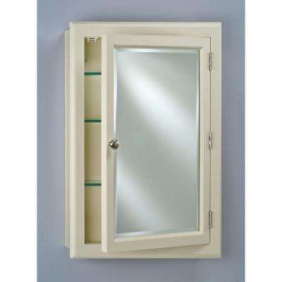 Devon 25 in. x 33 in. Recessed or Surface Mount White Large Wood Medicine Cabinet