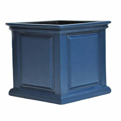 14 in. sq. Neptune Blue Composite Straight Side Panel Planter