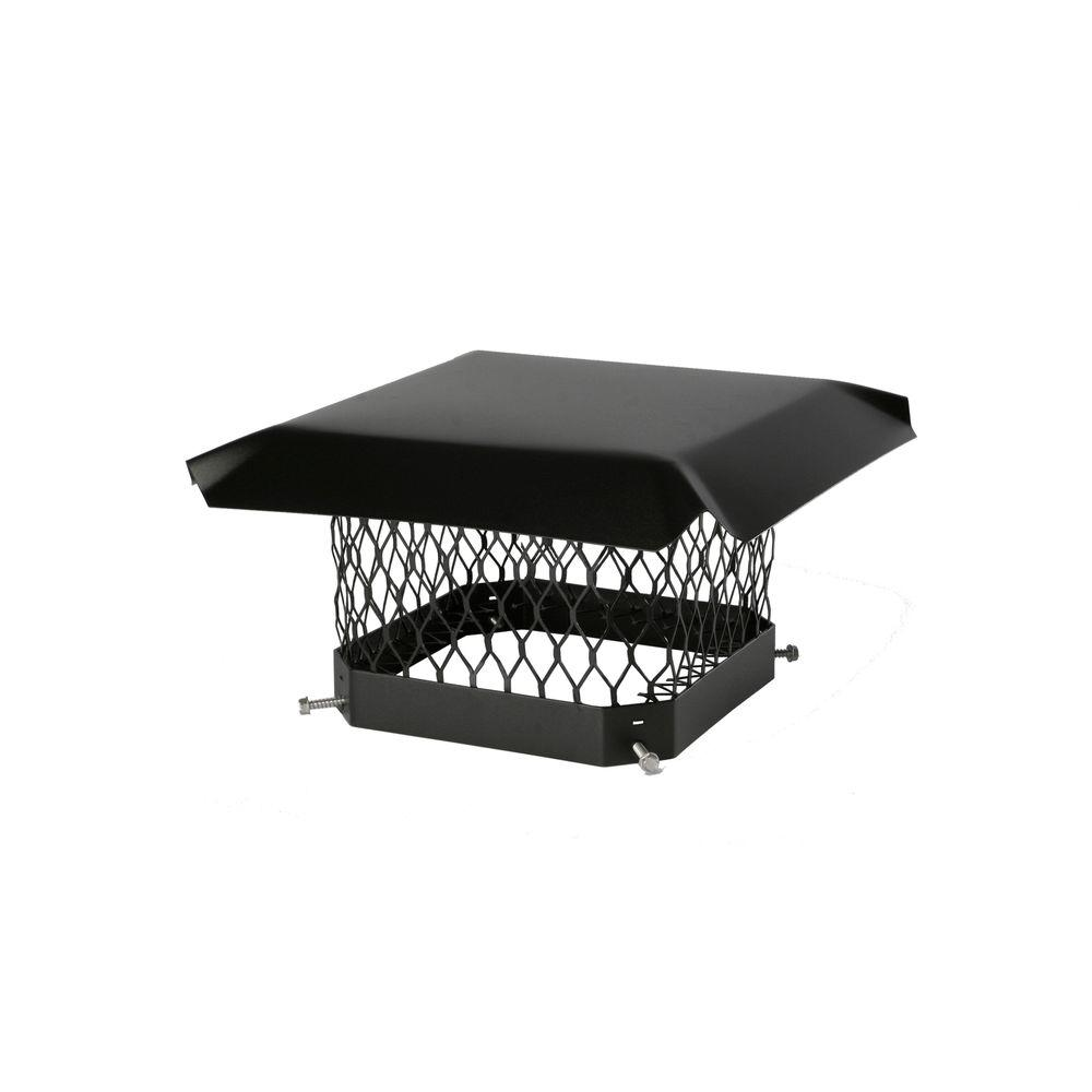 shelter 9 in x 13 in mesh chimney cap in galvanized steel sc913