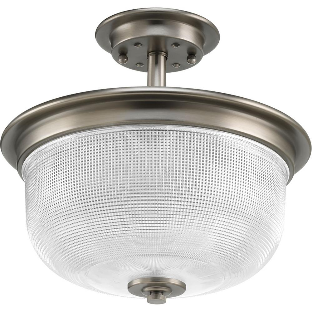 Progress Lighting Archie Collection 2 Light Antique Nickel: Progress Lighting Nisse Collection 4-Light Polished Nickel
