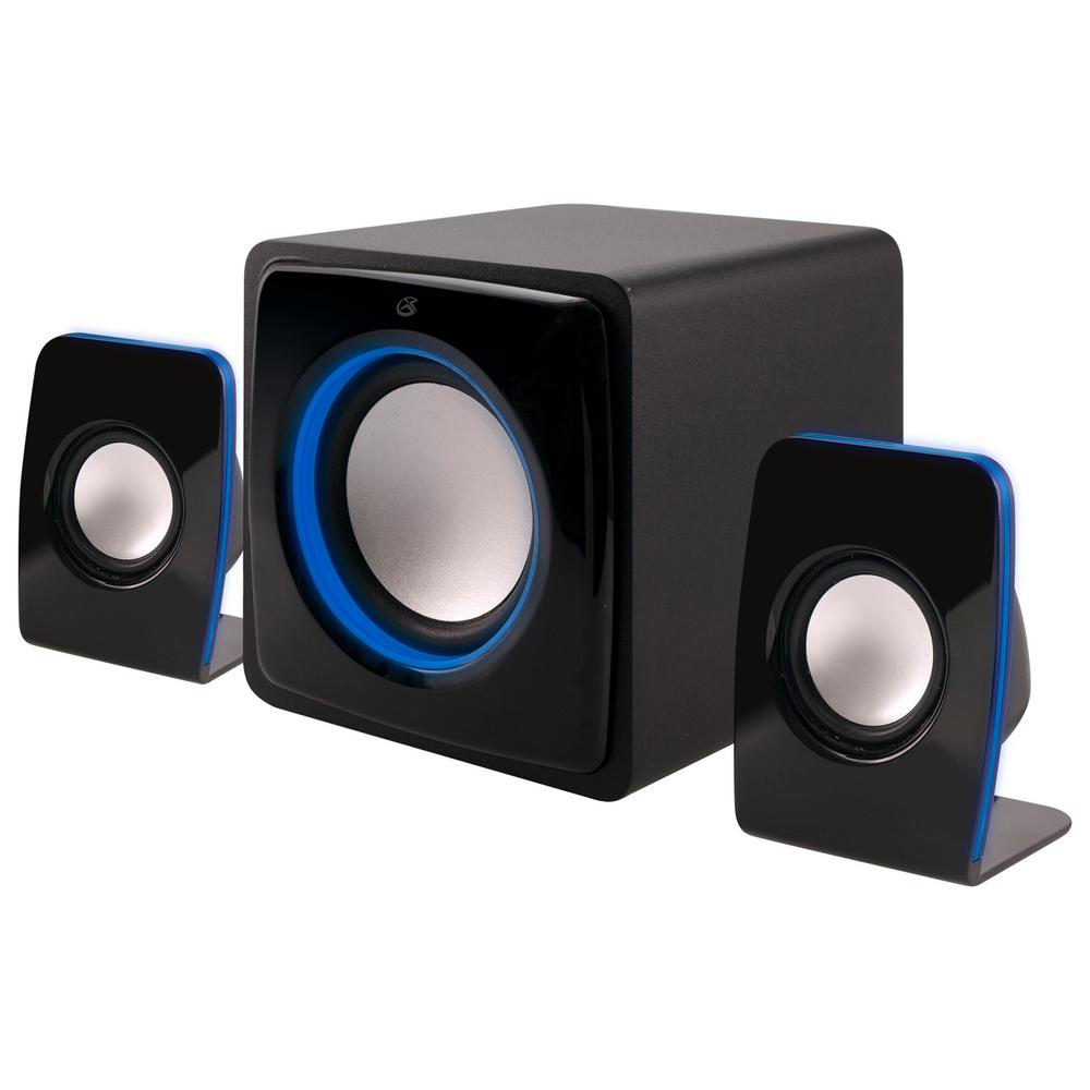 Bluetooth 2.1-Channel Home Music System with LED Light Ef...