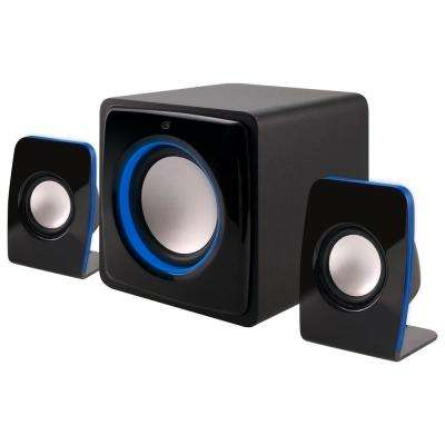Bluetooth 2.1-Channel Home Music System with LED Light Effects